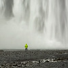 Self Portrait, Skagafoss Waterfall, South Iceland