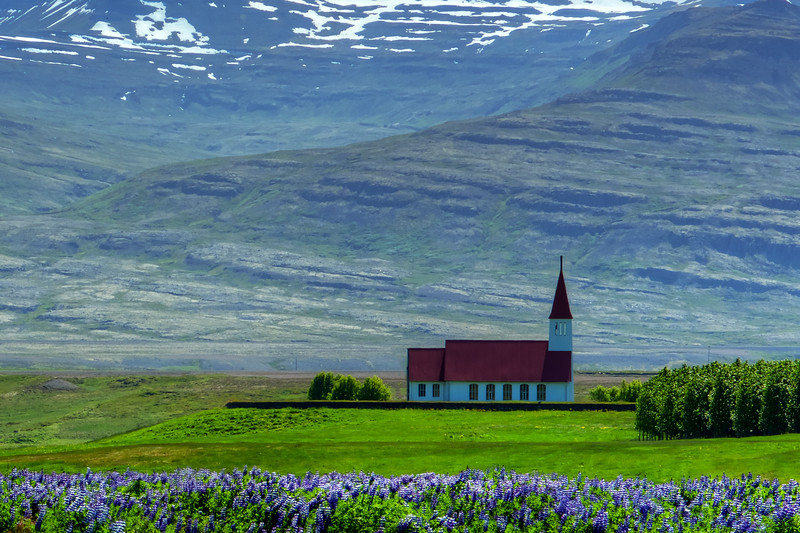 Church In East Fjords Iceland