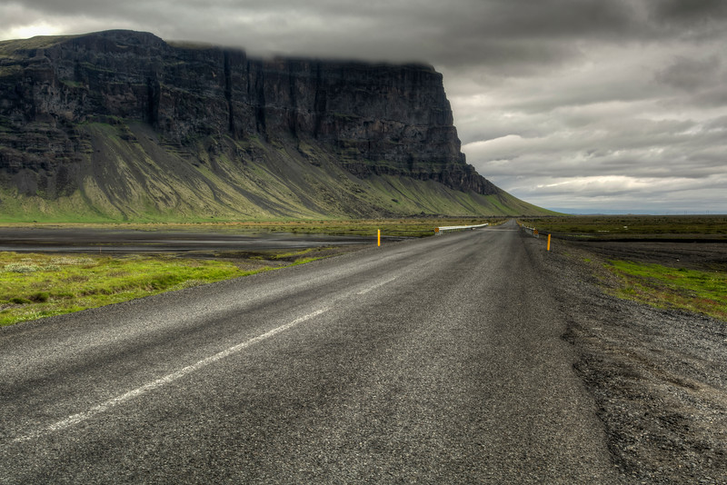 Route - 1 And Mountain , South Iceland