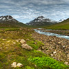 Mountains With Stream, East Fjords Iceland
