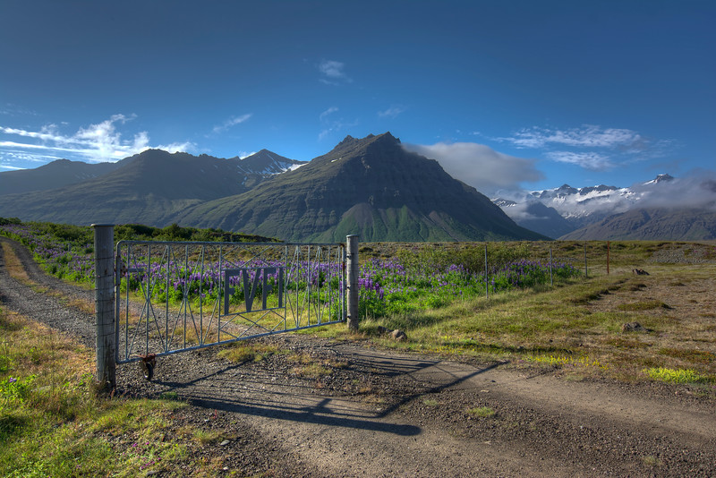 Closed Gate, South Iceland