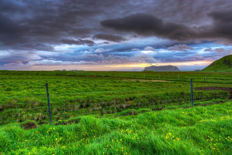 Fence, Vik, South Iceland