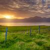 Sunset Over Lake, East Fjords, East Iceland