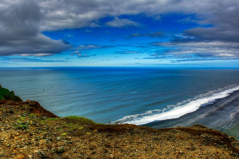Cliff Over Reynisfjar Beach, South Iceland