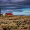 Barn In Field, South Iceland