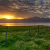 Sunset, East Fjords, Iceland