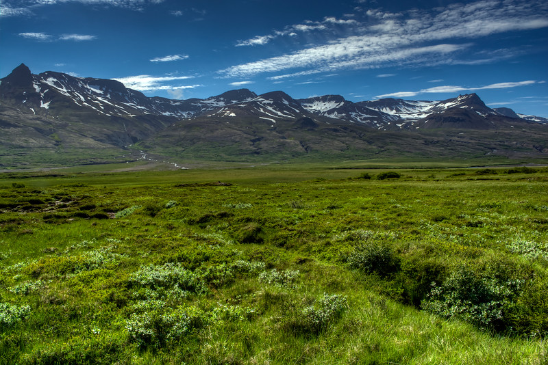 Snow Capped Mountains , South iceland