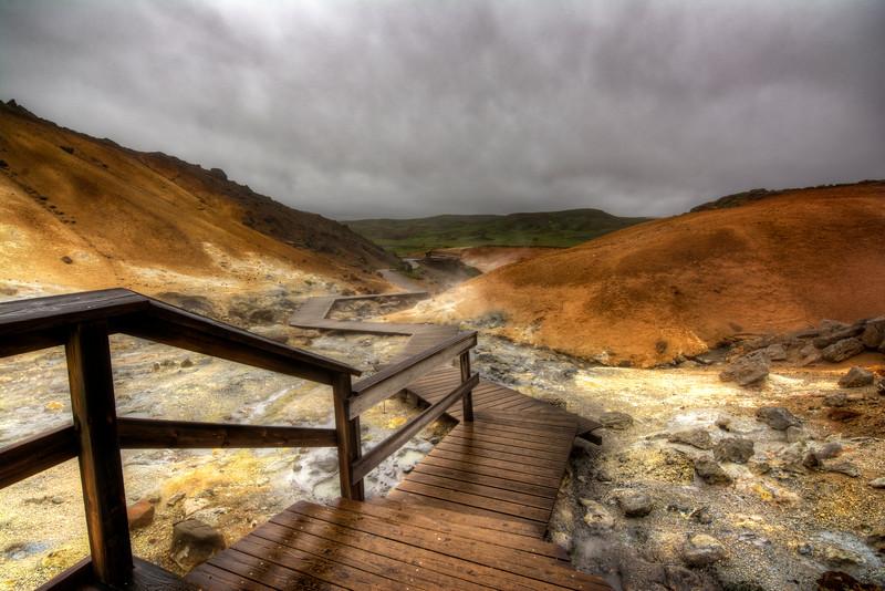 Walkway, Seltun Geo Thermal Area, Krysuvik South Iceland