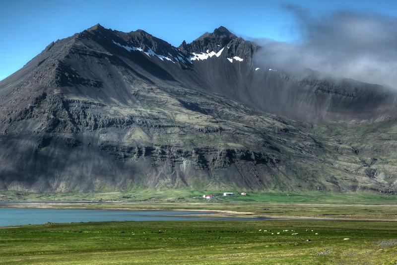 Farm Under Mountain, South Iceland