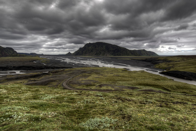 Valley With Road, Pakgil, South Iceland