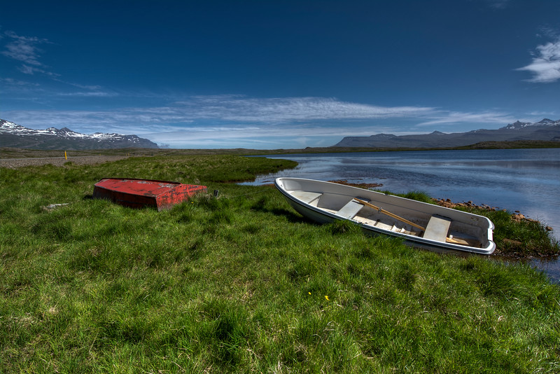 Two Row Boats, East Fjords, Iceland