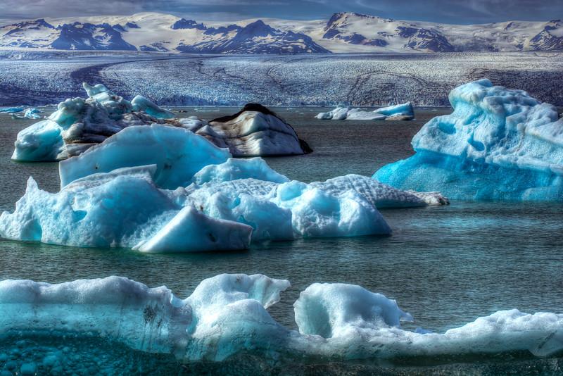 Icebergs # 3 , Jokulsarlon Lagoon , East Iceland