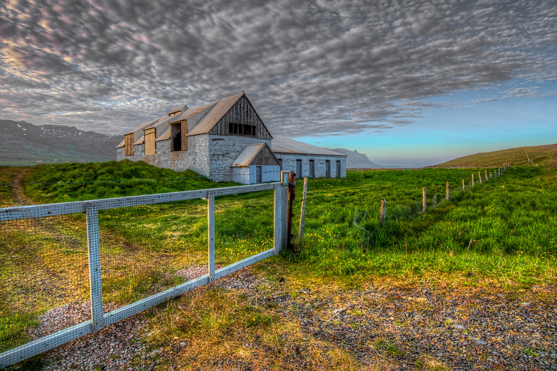 Fence With Farmhouse, East Fjords Iceland