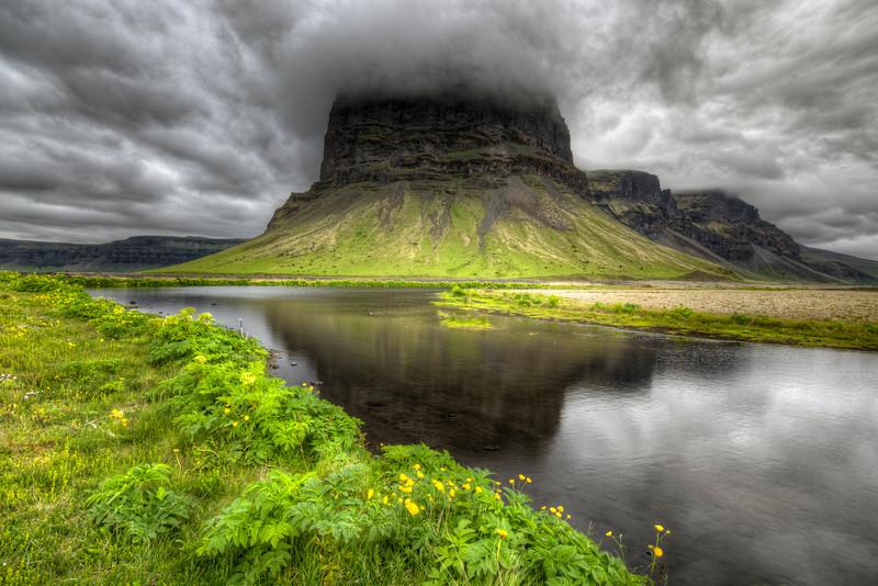 Lomagnupur Reflection, Skeioararsandur, South Iceland