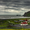 Town Of Vik,  South Iceland