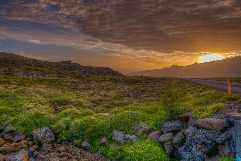 Sunset, South Iceland