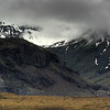 Fog Over Snow Capped Mountains,  South Iceland