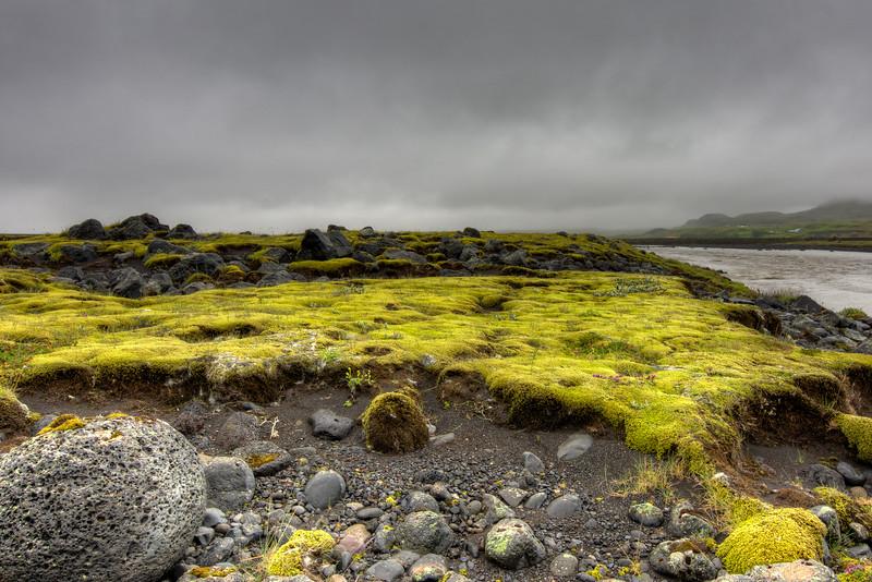 Rocks In Moss Field, South Iceland