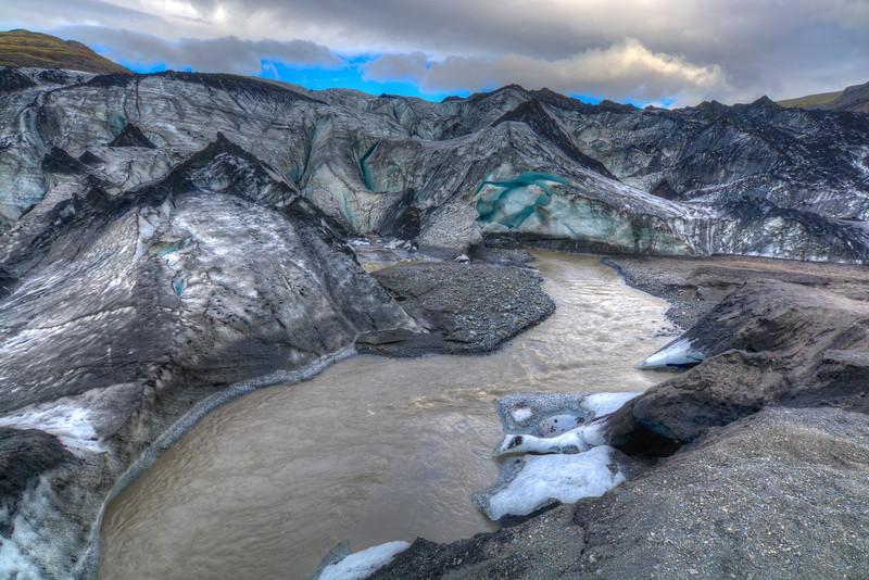 Myrdalsjokull Glacier Edge, South Iceland