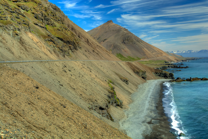 Route-1 Along Cliffs, East Fjords, East Iceland