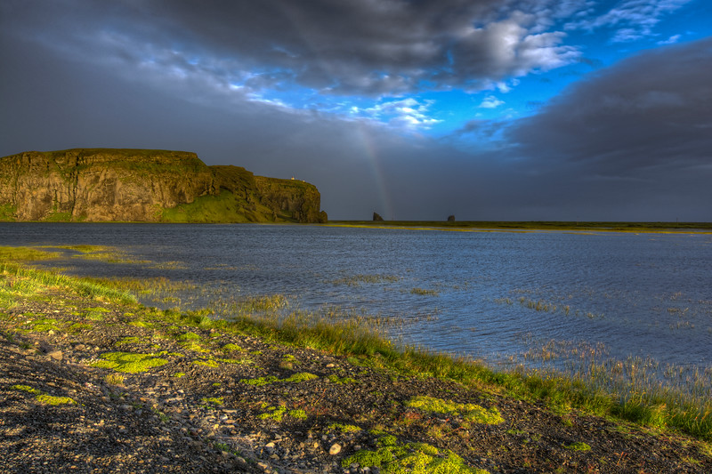 Rainbow, Landscape, South Iceland