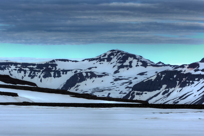 Landscape Of Snow, Seyoisfjorour, East Fjords Iceland