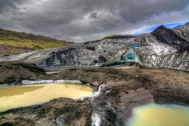Mountain Glacier Solheimajokill, South Iceland