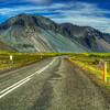 Road And Mountain Landscape, South Iceland