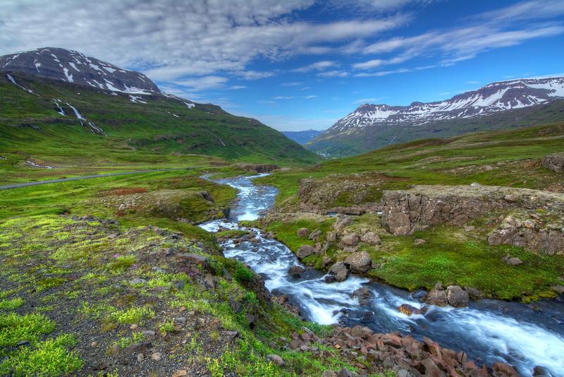 Mountain Stream, Seyoisfjorour, East Fjords Iceland