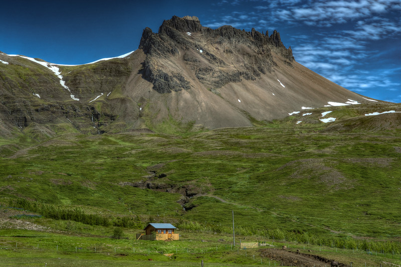 Mountain And House , South Iceland