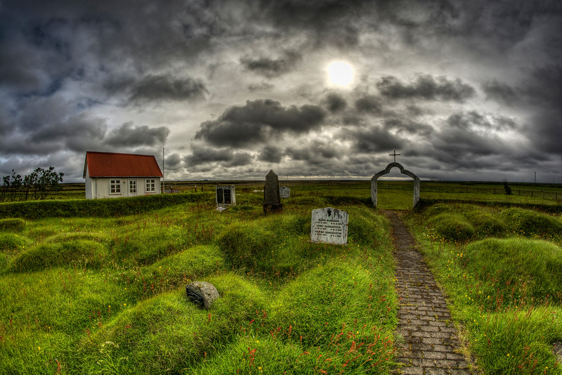 Church Cemetery, Langholt,  South Iceland, 1863