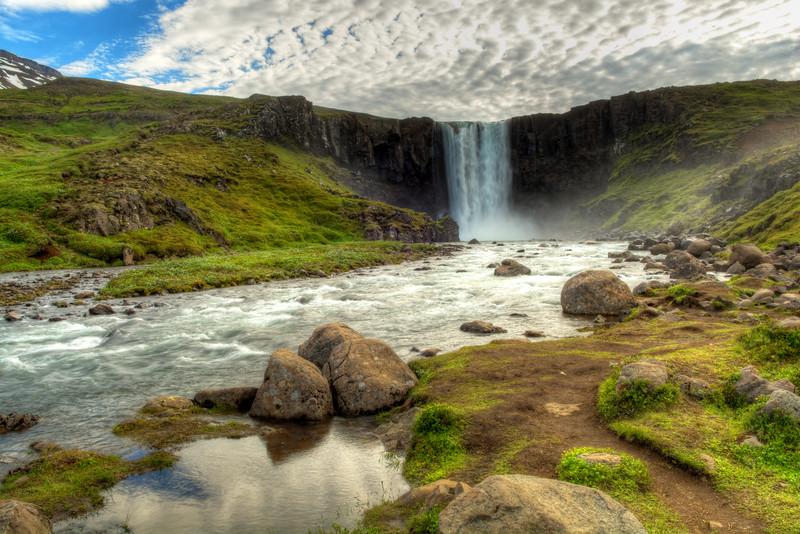 Waterfall, Seyoisfjorour, East Fjords Iceland
