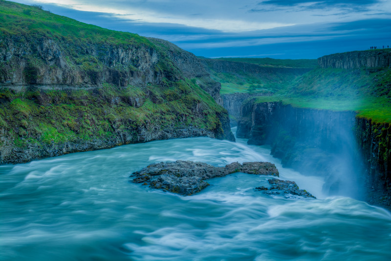 Gullfoss Waterfall, Central Iceland