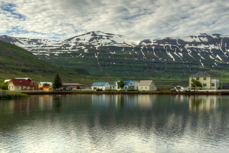 Town Of Seyoisfjorour, East Fjords Iceland