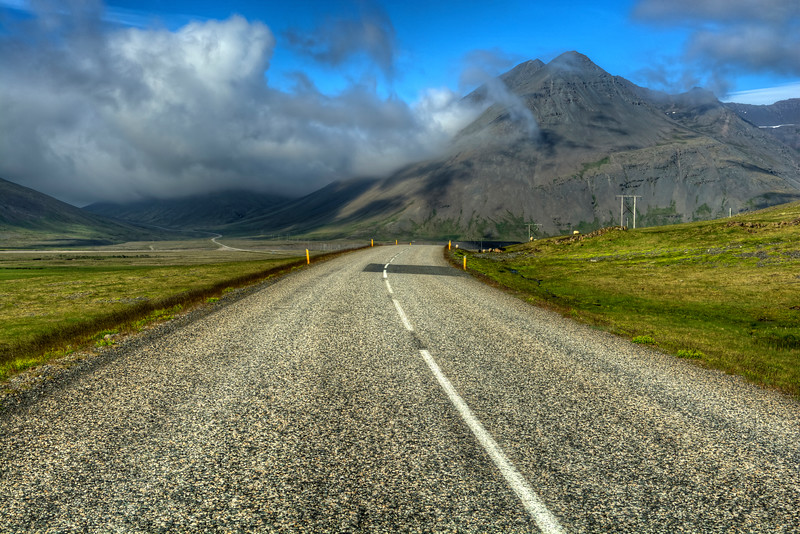Clouds Over Mountain, East Fjords Iceland