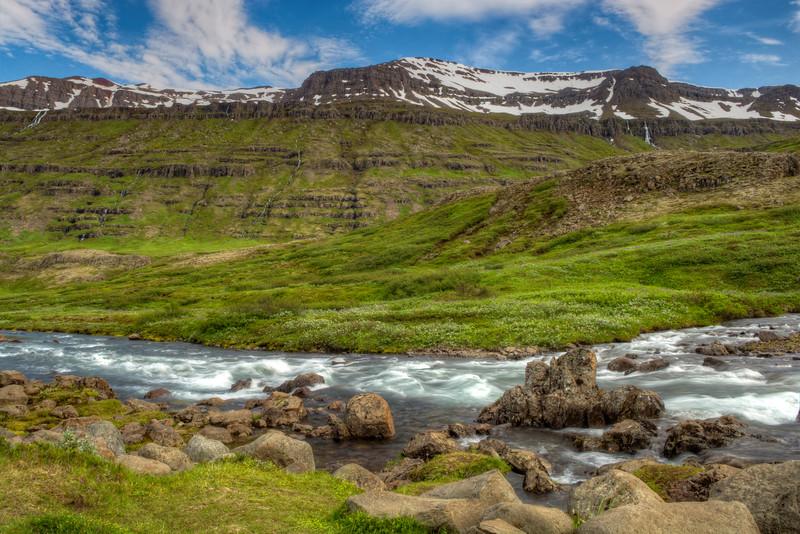 Rocks In Stream, East Fjords Iceland