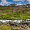 Rocks In Stream, East Fjords Iceland
