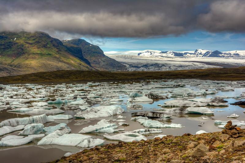 Floating Icebergs, Jokulsarlon South Iceland