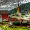 Old Abandoned Boat, Seyoisfjorour Harbor, East Fjords, Iceland