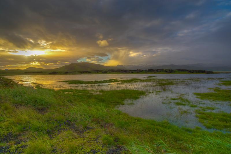 Lake Sunset, South Iceland