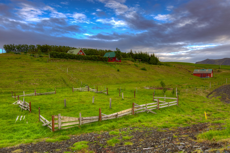Homestead With Broken Fence, South Iceland