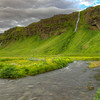 Stream And Waterfalls, South Iceland