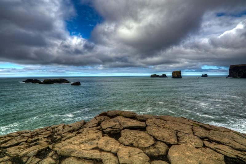 Rocks On Dyrholaey Beach, South Iceland