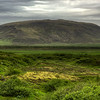 Green Mountain Landscape, South Iceland