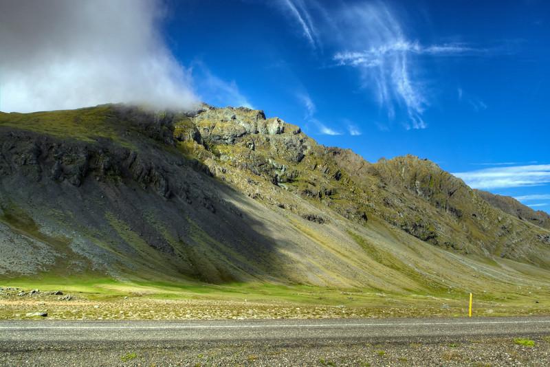 Cloud On Peak, South Iceland