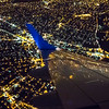 I Love NY . Jetblue making a left turn over New York City