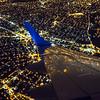I Love NY . Jetblue making a left turn over New York City