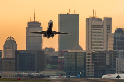 Delta 414 departs Boston for JFK. N942AT