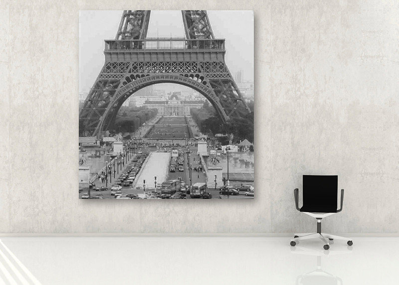 Photograph of Paris taken in 1993 by Satish Lad - I was trying to show the scale of the tower but without showing it's entire height.
