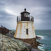 Castle Hill Lighthouse during a rain storm.